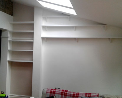 A freshly plastered ceiling with velux windows in Croydon